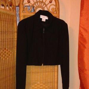 Jones new york womens cropped blazer blk size 14